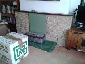 1. Before DIY Reclaimed Parquet Flooring Installation