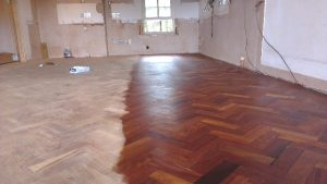 Halfway with the parquet