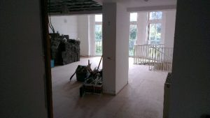 Before laying the parquet floor