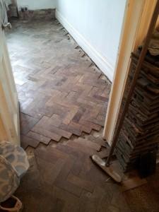 3. Work in progress - DIY Reclaimed Parquet Flooring Installation