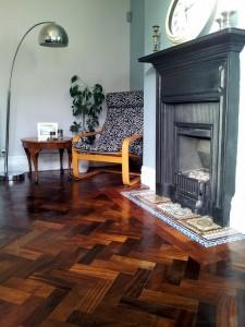 5. All done! DIY Reclaimed Parquet Flooring Installation