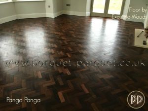 Reclaimed parquet floor