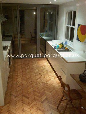 Parquet flooring kitchen or bathroom