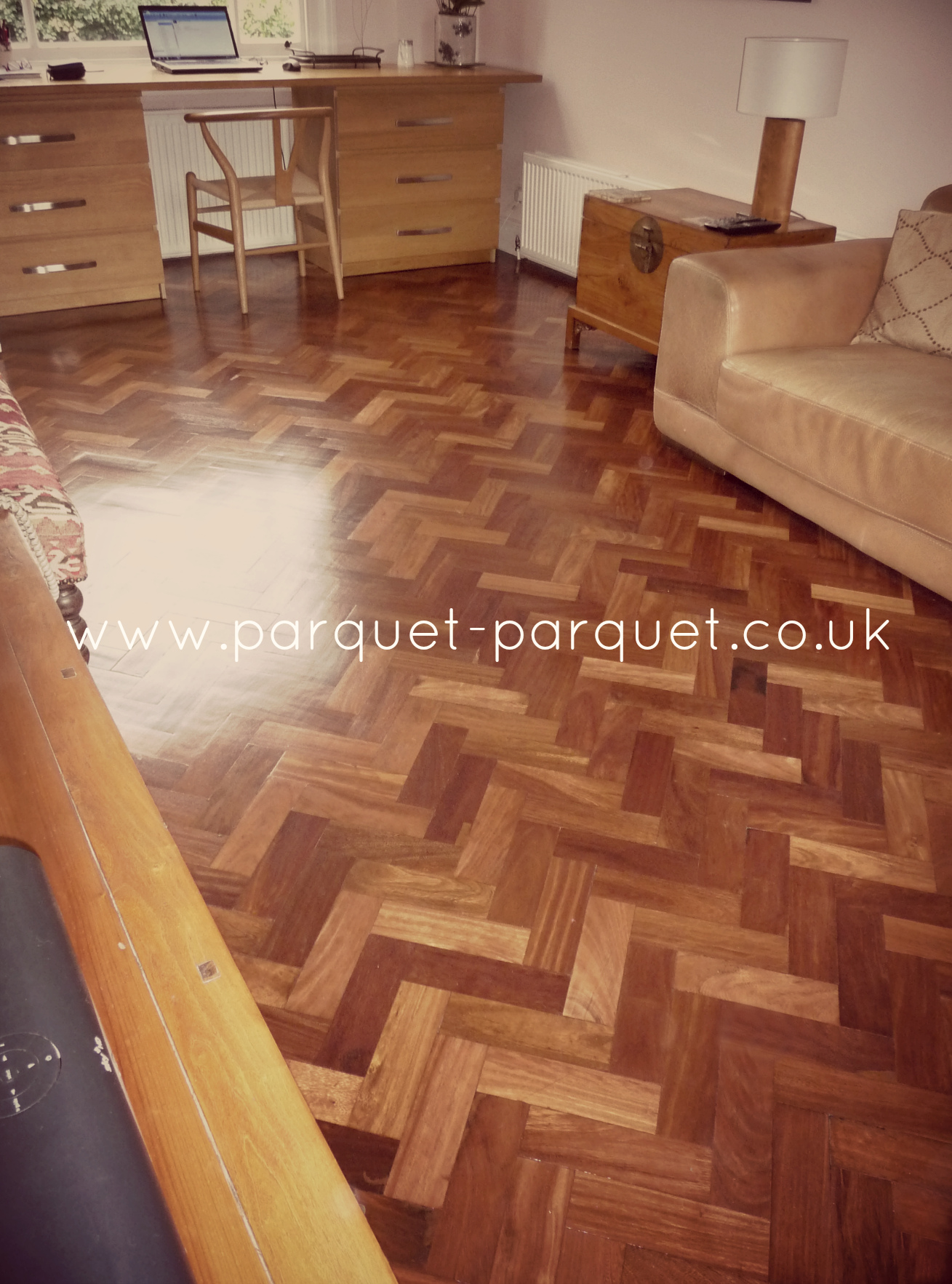 Parquet Flooring Kitchen Or Bathroom · Rhodesian Mahogany Floor London ...