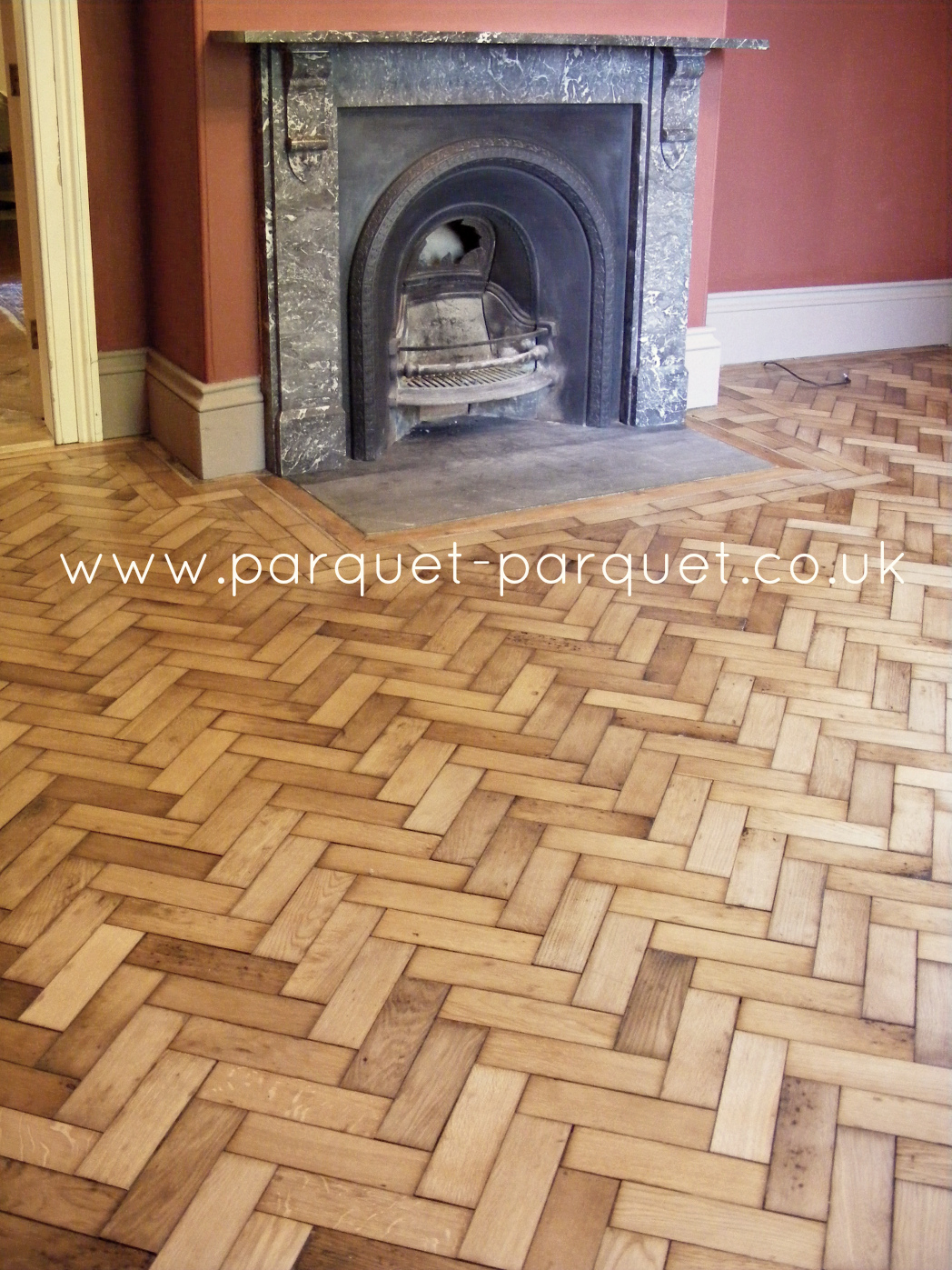 English Oak Reclaimed Parquet Fitting Clean Parquet