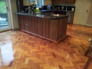 Parquet flooring kitchen or bathroom